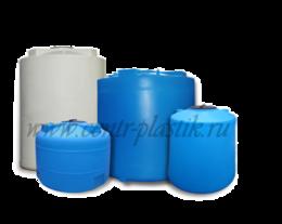 Цилиндрические пластиковые баки для воды и дизельного топлива