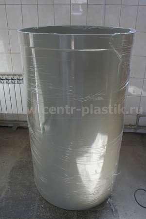 Фрагмент пластикового воздуховода круглой формы