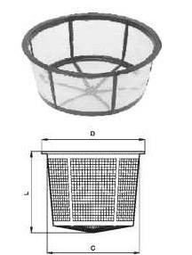 Фото и чертеж фильтра крышки люка из полипропилена