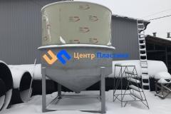 Фото №2. Емкость с коническим дном (бункер БДС) Germes-Plast БДС 16 000 ПП ГВС. (Вид 2)