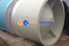 Фото №1. Емкость с коническим дном (бункер) Germes-Plast БДС 2000. (Вид 1)