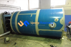 Фото №1. Емкость из ПП на 10м3 для питьевой воды. (Вид 1)