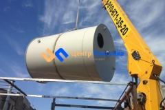 Фото №1. Емкость из ПП на 15 м3 Джурби для дисцелерованной воды. (Вид 1)