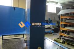 Фото №2. Емкость из синего ПП для питьевой воды. (Вид 2)