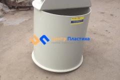 Фото №3. Емкость цилиндрическая из ПП для питьевой воды с крышкой на петлях. (Вид 3)