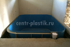 Фото №1. Прямоугольный бассейн размером 3300х2900х1500 мм.