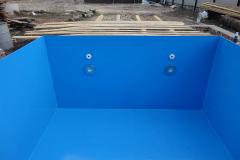 Фото №4. Фото установки квадратного бассейна