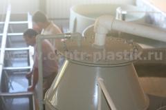 Фото 2. Оксигенатор для малькового цеха производительностью 30 м3 в час с воздушным датчиком
