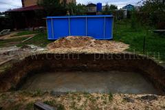 Готовое бетонное основание для установки ПП бассейна 4500x2500x1500 мм