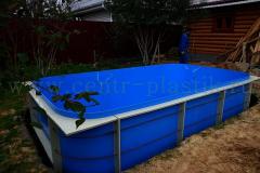 Монтаж полипропиленового бассейна 4500x2500x1500 мм в котлован на бетонную утепленную подушку 1