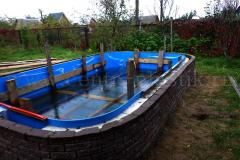 Внешнее бетонирование и внешняя отделка бассейна бессером 3