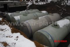 Подземное размещение стеклопластиковых емкостей