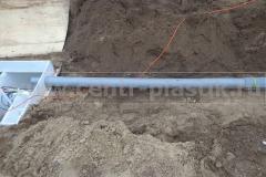 Фото 20. Врезка центральной канализационной трубы в систему очистки