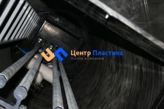 Полиэтиленовая насосная станция для перекачки ливневых стоков (ЛНС) производительностью 12 м³час и напором до 40 м (вид сверху)