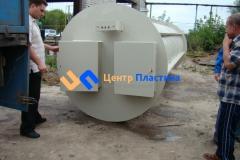 Канализационная насосная станция из листового полипропилена Germes-Plast KNS ПП для перекачки агрессивных сред с температурой до 90 градусов