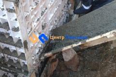 Подача бетона для бетонирования боковых стенок системы очистки сточных вод Юнилос-Астра 100