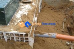 Подсоединение отводящего трубопровода Ø160 мм
