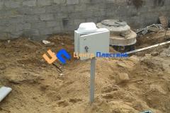 Установка электрического ящика и аварийной сигнализации на септик Юнилос-Астра 100