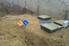 Окончательная засыпка песком станции очистки и КНС