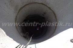 Фото №28 Монтаж фекального насоса в шахту КНС