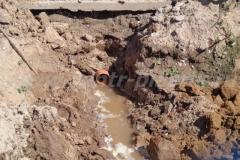 Фото №4 Выход центральной канализационной трубы из здания