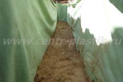 Фото №70 Просыпка песчаной подушки для поля фильтрации