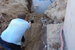 Фото №72 Траншея для отводящей канализации