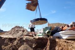 Фото №7 Монтаж плиты основания по КНС