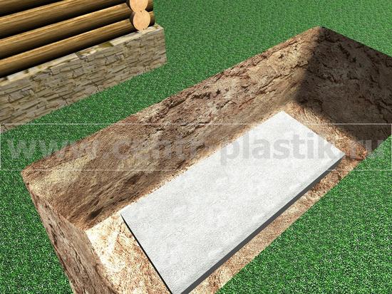 Изображение 2. Установка бетонной армированной плиты