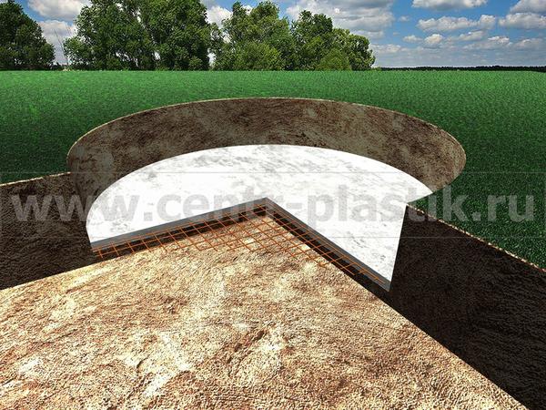 Изображение 2. Заливка подушки армированной сеткой