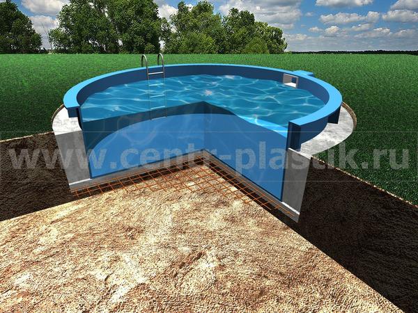 Изображение 6. Заливка бассейна водой