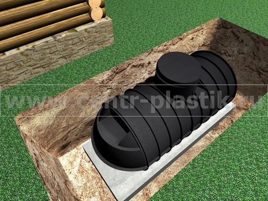 Этап 3. Установка септика на бетонное основание