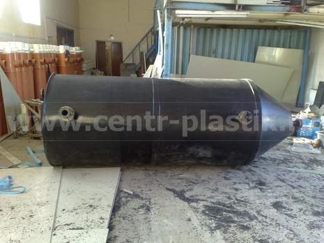 Пластиковый бункер для жидких и сыпучих веществ на 5 м³