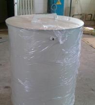 Бак из ПП диаметром 0,8м высотой 1,3м со съемной крышкой