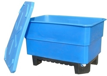 Пластиковый контейнер 500 л для пищевых продуктов на пластиковом поддоне (КЛ500СП)