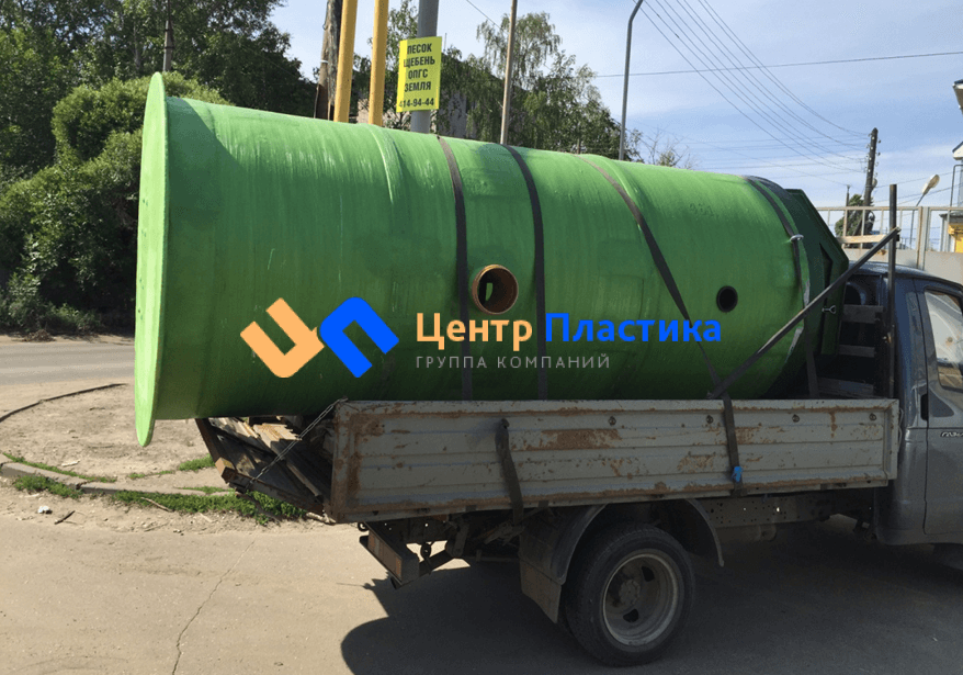 Стеклопластиковая канализационная насосная станция Germes-Plast KNS СП 1,5/4