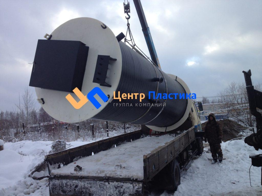 Комплектная полиэтиленовая КНС производительностью до 25 м3/час и напором до 30 м для складского комплекса