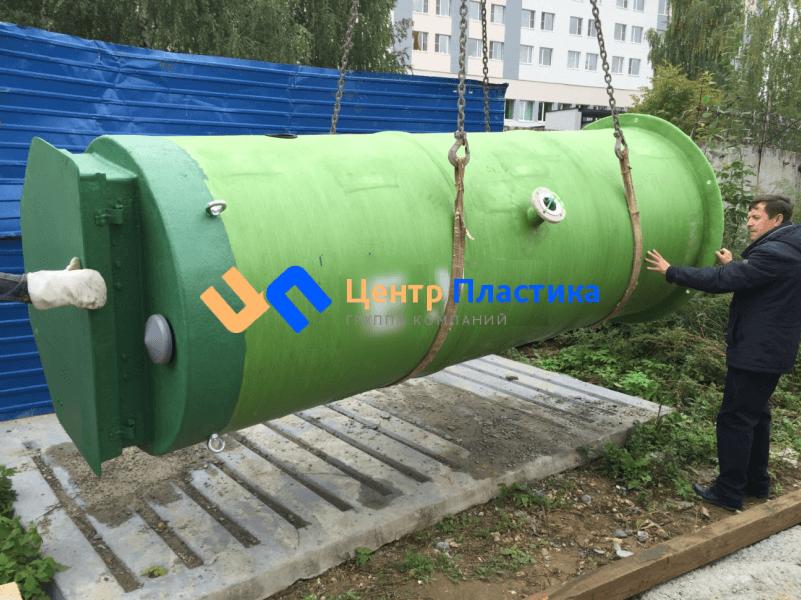 Стеклопластиковая канализационная насосная станция Germes-Plast  KNS СП 1,2/5