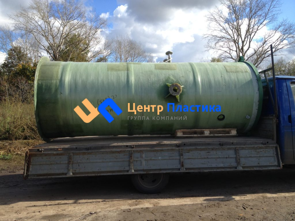 Стеклопластиковая канализационная насосная станция Germes-Plast KNS СП 1,2/4