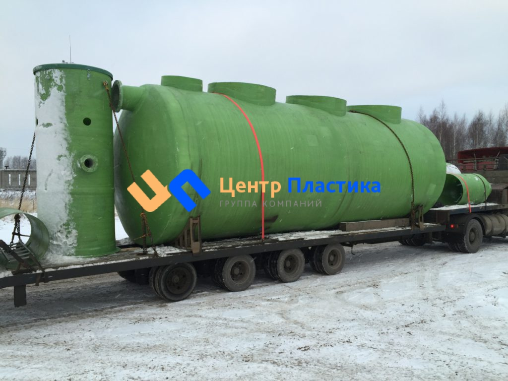 Стеклопластиковая канализационная насосная станция Germes-Plast KNS  СП  Г 3/8,8