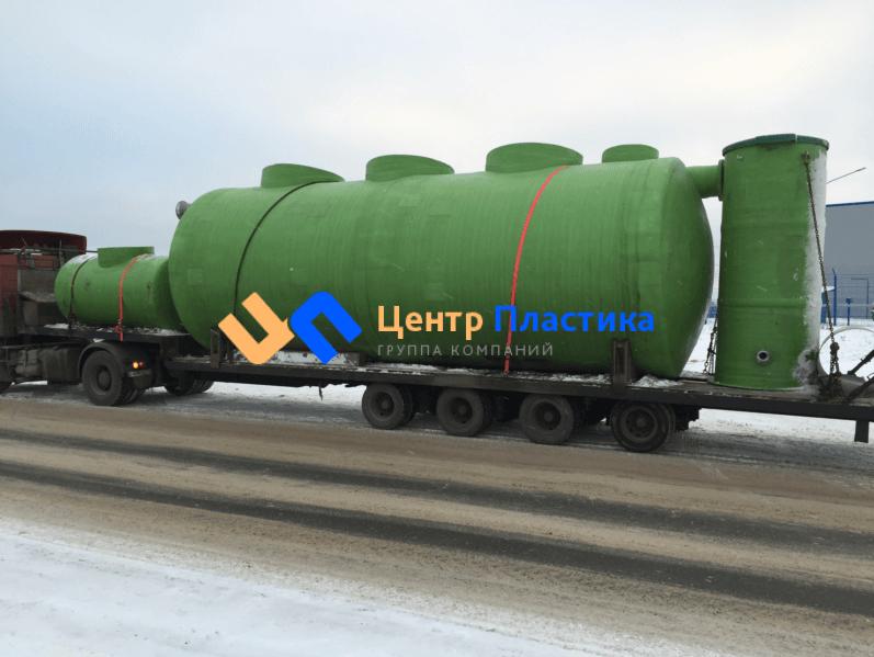 Подземная стеклопластиковая емкость (ЛНС)  на 60 м³