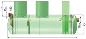 Размеры пескоотделителя