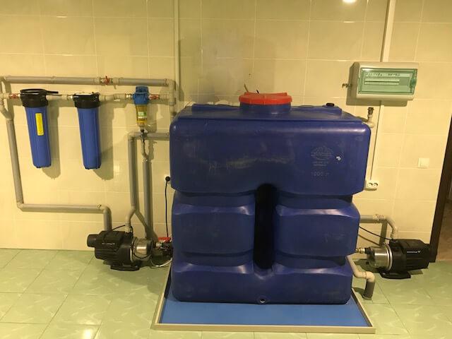 Насосная станция водоснабжения <br>с механическим поплавковым датчиком управления уровня воды