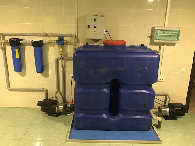 Насосная станция водоснабжения со шкафом управления <br>и электрическими датчиками уровня воды