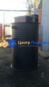 Полиэтиленовая мини КНС Ф 1200 Н 2500 на базе двух насосов Pedrollo Bcm10|50 со шкафом управления