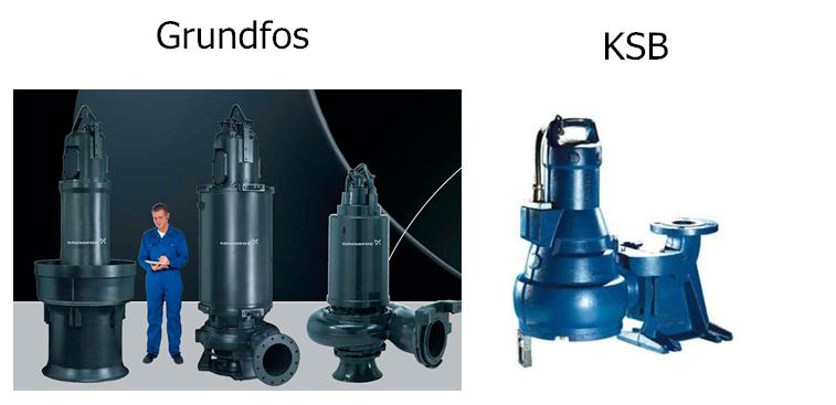 насосное оборудование для КНС производительностью 10 ÷ 150 м3/ч и напором 5 ÷ 50 м.