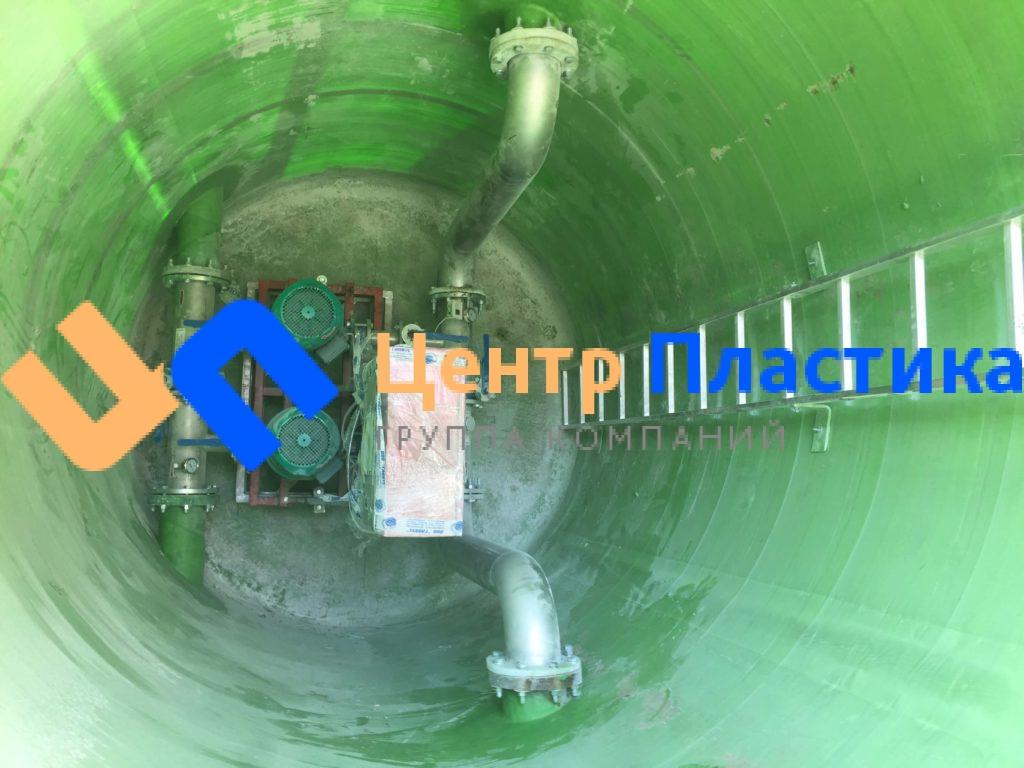Насосная станция пожаротушения с внутренней разводкой, производительностью 50 м3 /час напором 30 метров.