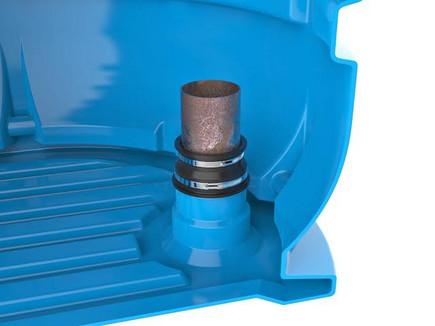 """Внутренне устройство кессона с уникальными посадочными местами для ввода обсадных труб и герметичной муфтой """"Fast Connection"""""""
