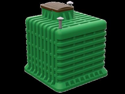 Пластиковый погреб для дачи объемом в 10 куб.м