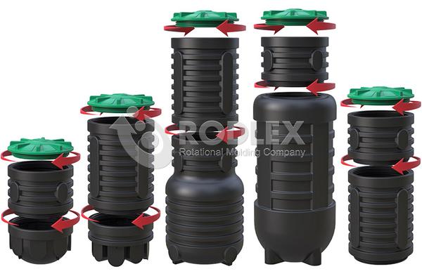 Колодцы на удобных винтовых соединения RODLEX для дренажа и автономной канализации дома